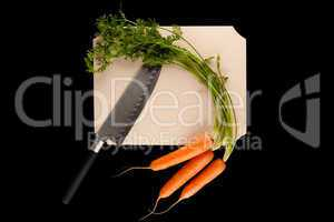 carrot with knife