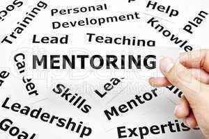 mentoring paper words concept