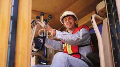 Industrial Male Road Grader Smile