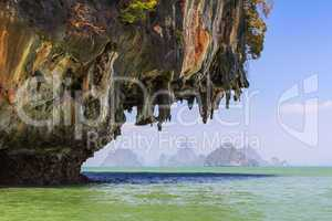 limestone cliffs in the pang nga bay