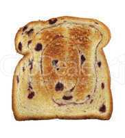 swirl bread toast with blueberries