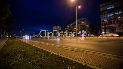 Night City Traffic Time lapse  Dolly Shot