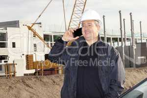 civil engineer at the construction site