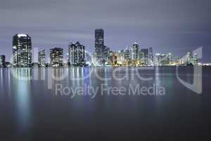 miami skyline during twilight