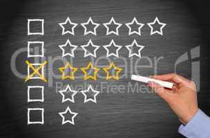 3 stars - average performance