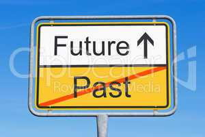 future and past - concept sign