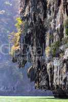 limestone cliff in sea
