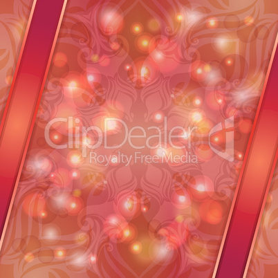 Red vintage vector abstract background