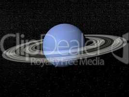 Neptune and rings - 3D render