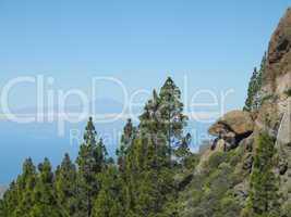 Blick vom Roque Nublo (Gran Canaria) zum Teide