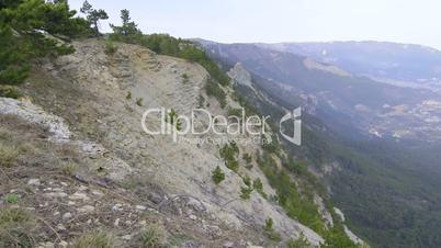 View of south coast of Crimea and Yalta city from Ai-Petri plateau