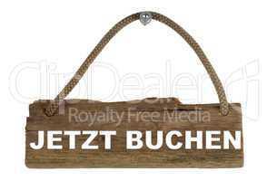 Isoliertes Holzbrett mit Seil zum Aufhängen: Jetzt buchen