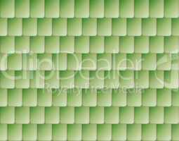 Seamless green color roof tiles