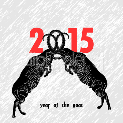Chinese symbol vector goat 2015 year