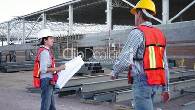 industrial male enters talks schematics
