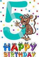 fifth birthday cartoon design