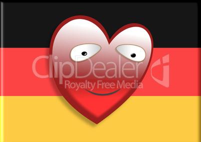 Deutschlandfahne mit Herz