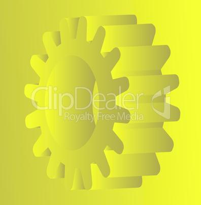 yellow gear - cog wheel