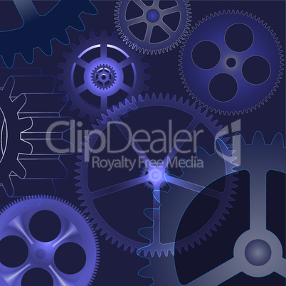 vector abstract background with gears