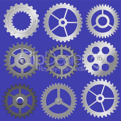 vector gears - cog wheels