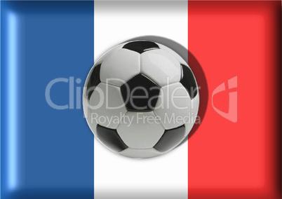 Flagge Frankreich Fußball