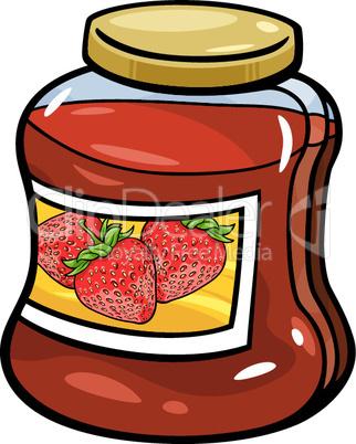 jam in jar cartoon illustration
