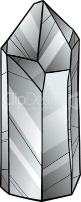 quartz or crystal cartoon illustration