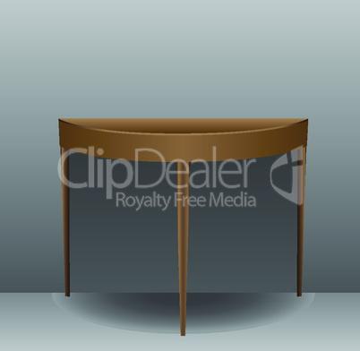 half oval table
