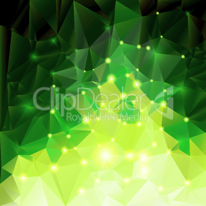 Green polygonal background