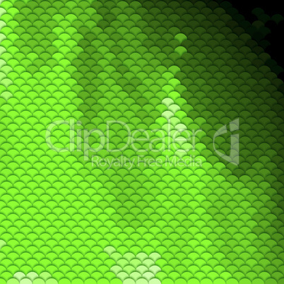 Scales pattern in green shades
