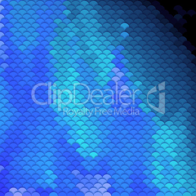 Scales pattern in blue shades