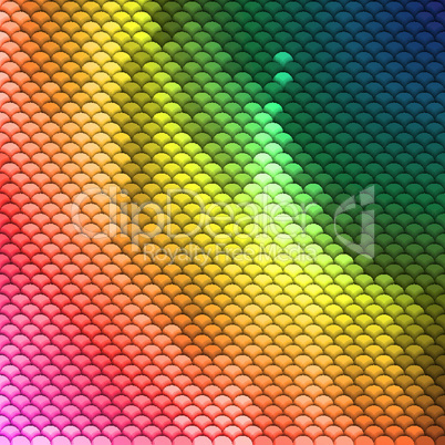 Colorful scales pattern