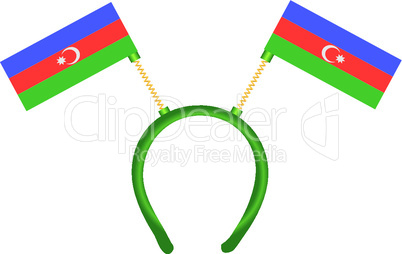 decoration on head flag of azerbaijan