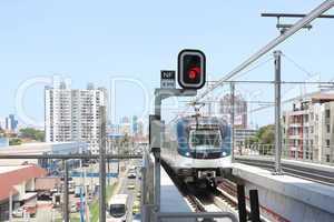 PANAMA CITY, PANAMA - MAY 10: Panama Metro a metropolitan transp