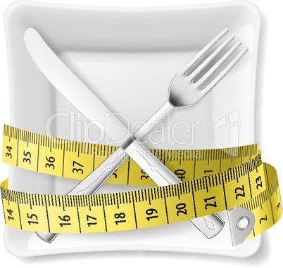 Diet concept illustration