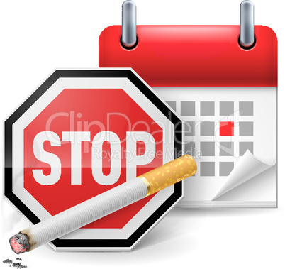 No smoking day icon