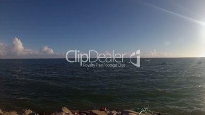 Seascape of Ria Formosa. Algarve, Portugal.