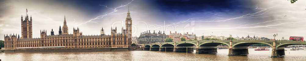Storm over Westminster Bridge - London