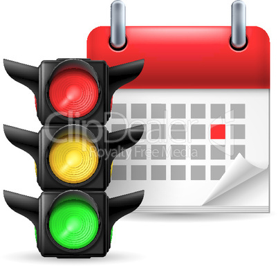 Traffic lights and calendar