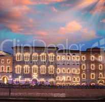 Pisa, Luminaria night show with Lungarni illuminated by thousand