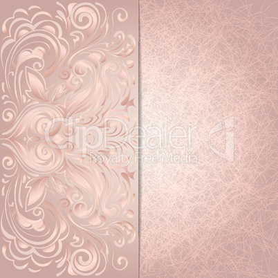background for invitation with pink floral pattern