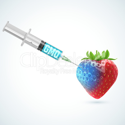 Strawberry with GMO