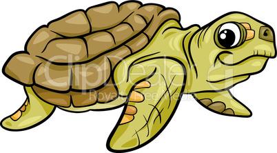 sea turtle animal cartoon illustration