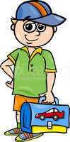 grade school student cartoon illustration