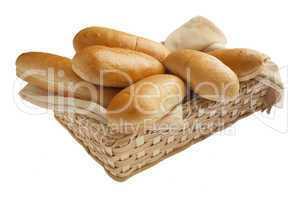 Freshly baked hot dog buns