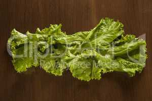 Lettuce on wood