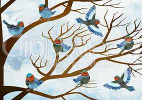 birds singing choir