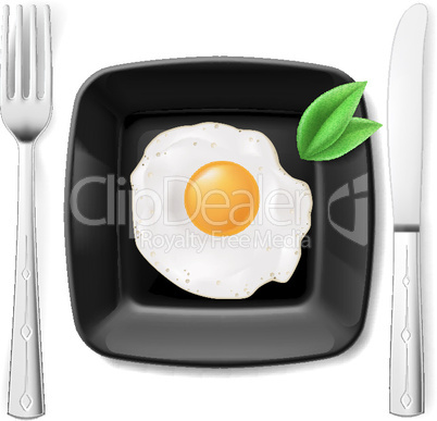 Served fried egg