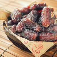 dates fruit in basket.