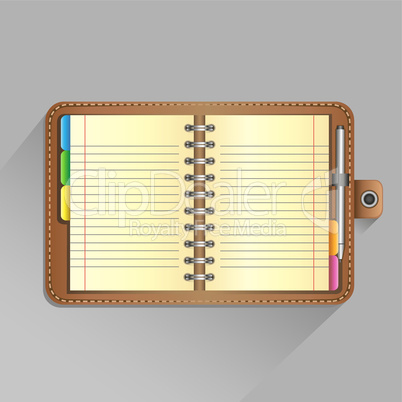 detailed notebook